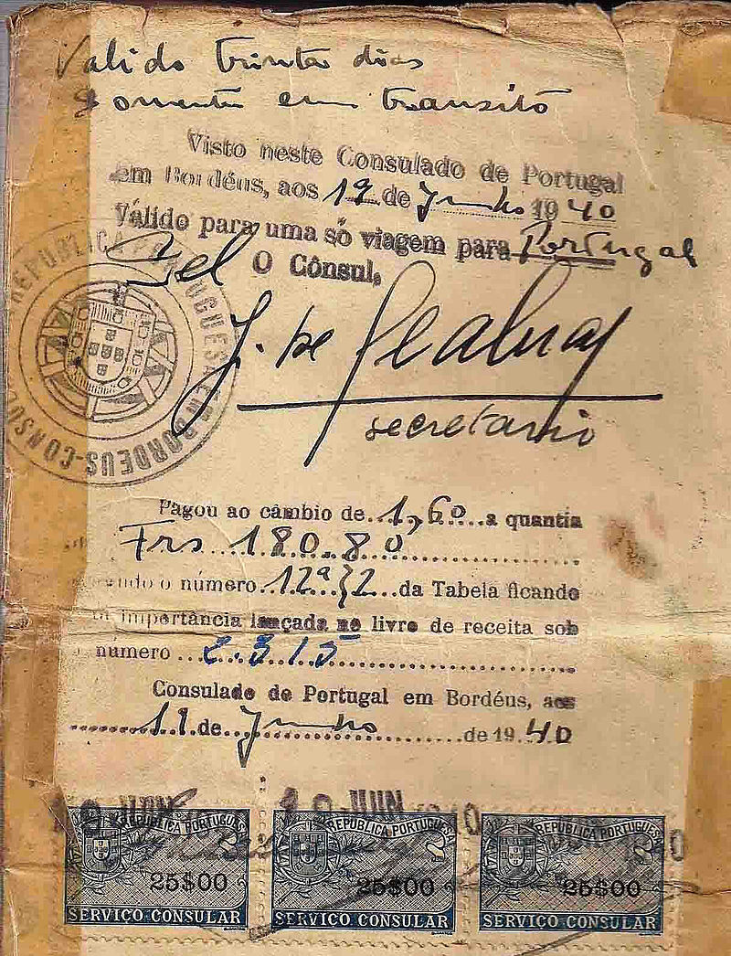 Life_saving_visa_issued_by_Dr._Aristides_de_Sousa_Mendes_in_June_19,_1940.