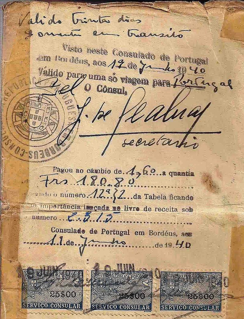 Life_saving_visa_issued_by_Dr._Aristides_de_Sousa_Mendes_in_June_19,_1940.