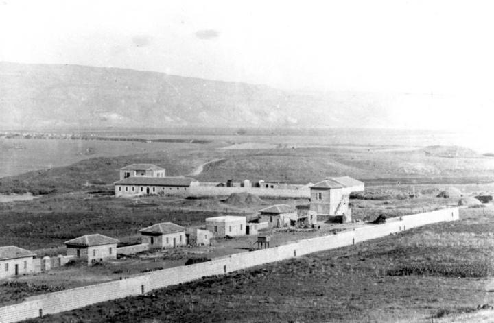 המושבה כנרת וחצר כנרת צילום: בן-דב 1910