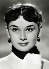 "Stage and Screen. Personalities. pic: 1954. Actress Audrey Hepburn, portrait. Audrey Hepburn, (1929-1993) born in Brussels, a truly international star from a cosmopolitan background, starred in many films, eg. ""My Fair Lady"" and ""Breakfast at Tiffany's""."